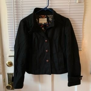 Warm Black Banana Republic Wool Peacoat Sz S